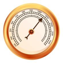 Ship Barometer Icon. Cartoon O...