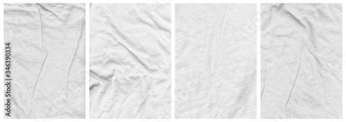 Obraz Tee Shirt Texture Pack Ringspun wrinkled fabric - fototapety do salonu