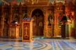 Leinwanddruck Bild - Interior of the small orthodox church