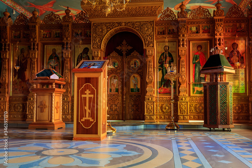 Photo Interior of the small orthodox church
