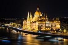 Scenic View Of Illuminated Hun...