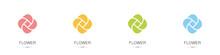 Set Of Flower Logos. Collectio...