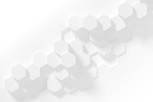 Hexagonal White Abstract Backg...