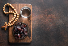 Ramadan. Dates In Bowl, Glass ...