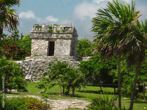 Fototapeta Ruiny miasta Majów - Tulum w Meksyku obraz