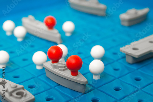 Battleship, board game Canvas Print