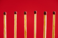 Line With Wooden Matchsticks I...