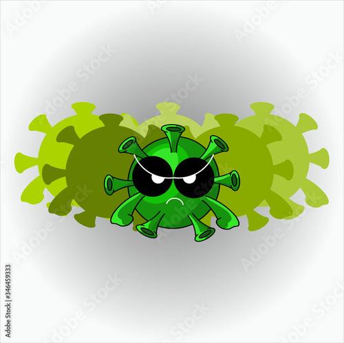 Fotografija Covid-19 illustration concept, a virus colony is ready to invade