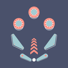 Pinbal Vector Illustration. Vi...