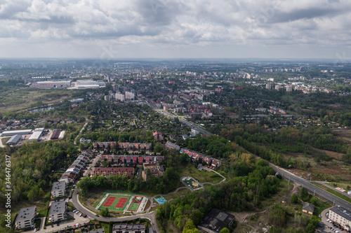Fototapeta Chorzów - Panorama miasta obraz