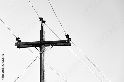 Fototapeta Low Angle View Of Electricity Pylon Against Sky