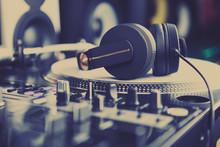 Professional Dj Sound Equipment In Music Store
