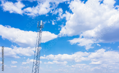 Telecommunication tower of 4G and 5G cellular Wallpaper Mural