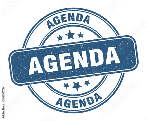 agenda stamp. agenda label. round grunge sign Canvas Print