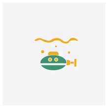 Submarine Concept 2 Colored Ic...