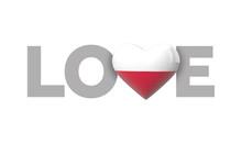 Love Poland Heart Shaped Flag ...