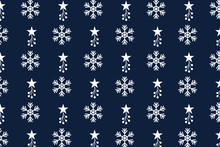 Seamless Pattern With Snowflak...
