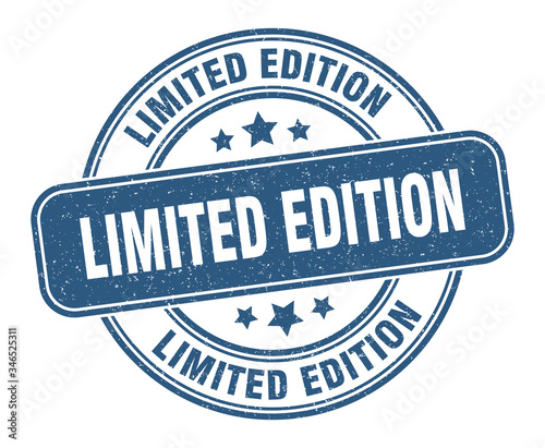 Fototapeta limited edition stamp. limited edition label. round grunge sign obraz