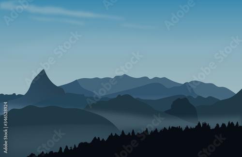 ilustracja-wektorowa-piekny-ciemny-niebieski