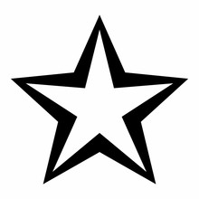 Black Stress Outlined Star Ico...