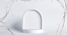Empty Arch Frame For Greetings...