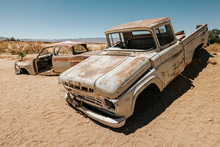 Old Abandoned Rusty Cars In So...