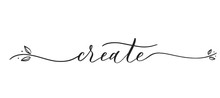 Create -  Typography Lettering...