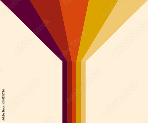 70s, 1970 abstract vector stock retro lines background Wallpaper Mural