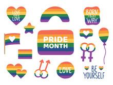 Pride Month Hand Drawn Sticker...