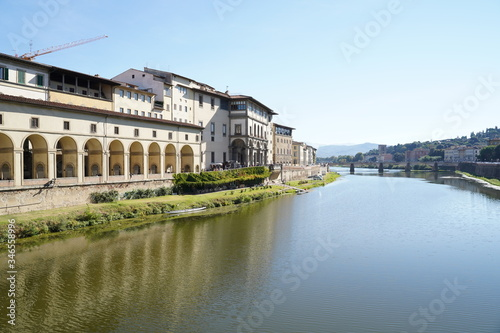 Fototapeta Firenze Italy Arno river and old buuildings