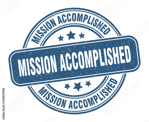 mission accomplished stamp Canvas Print
