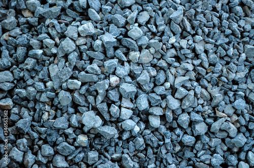 Photo Blue granite gravel texture