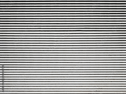 Fototapety, obrazy: White old metal industrial blinds fragment, ventilation grille.