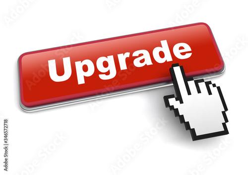 Fotografía upgrade concept 3d illustration isolated