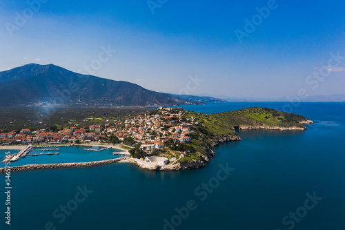 Paralio Astros port, view from drone, Arcadia, Greece Wallpaper Mural