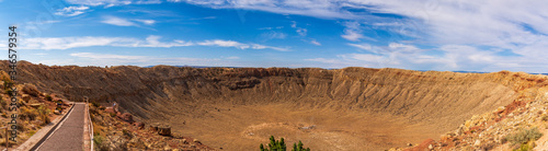 Meteor Crater Panoramic Canvas Print