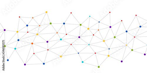 Fototapeta link, collegamenti, punti, connessione obraz