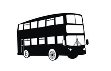 Double Decker Bus Silhouettes....