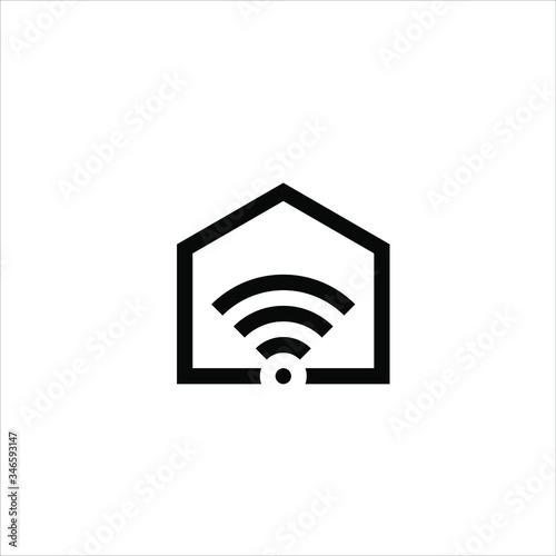 Design inspiration combines the home logo and signal logo Fototapete