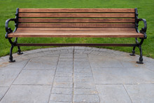 Outdoor Park Bench With Black ...