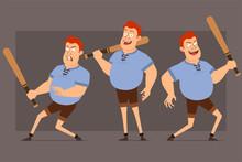 Cartoon Flat Funny Cute Redhea...