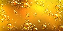 Yellow Oil With Air Bubbles. V...