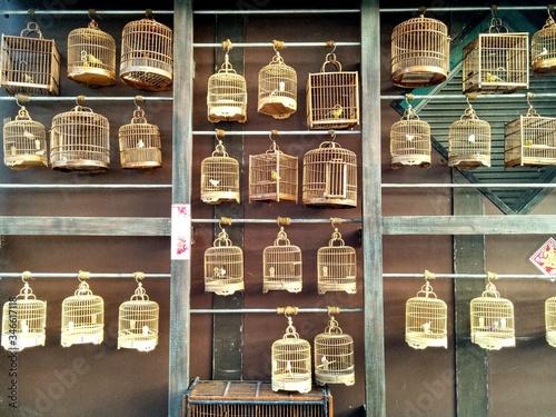 Obraz na plátně Bird Cages In Market For Sale