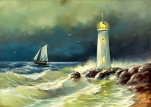 Oil Paintings Sea Landscape, L...