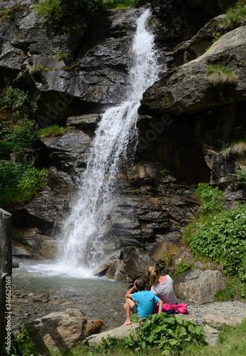 Fototapeta cascata sorgente val di sole acqua vita