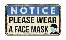 Please Wear A Face Mask Vintag...