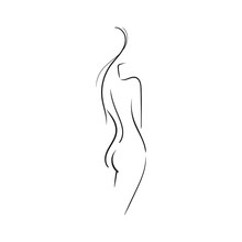 Hand-drawn Beautiful Nude  You...