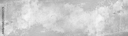 White gray concrete stone cement wall banner background Panorama long