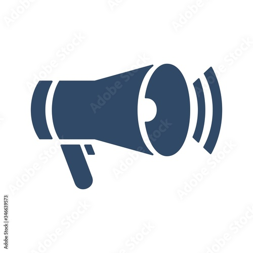 Megaphone icon in flat style Canvas Print