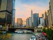 Chicago Riverfront Sunset